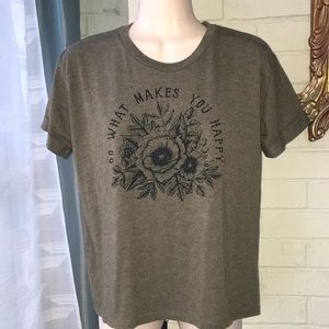 """""""Do what makes you happy"""" natural life T-shirt S"""